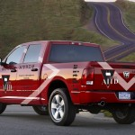 Dodge RAM rouge Rear_Piste 03